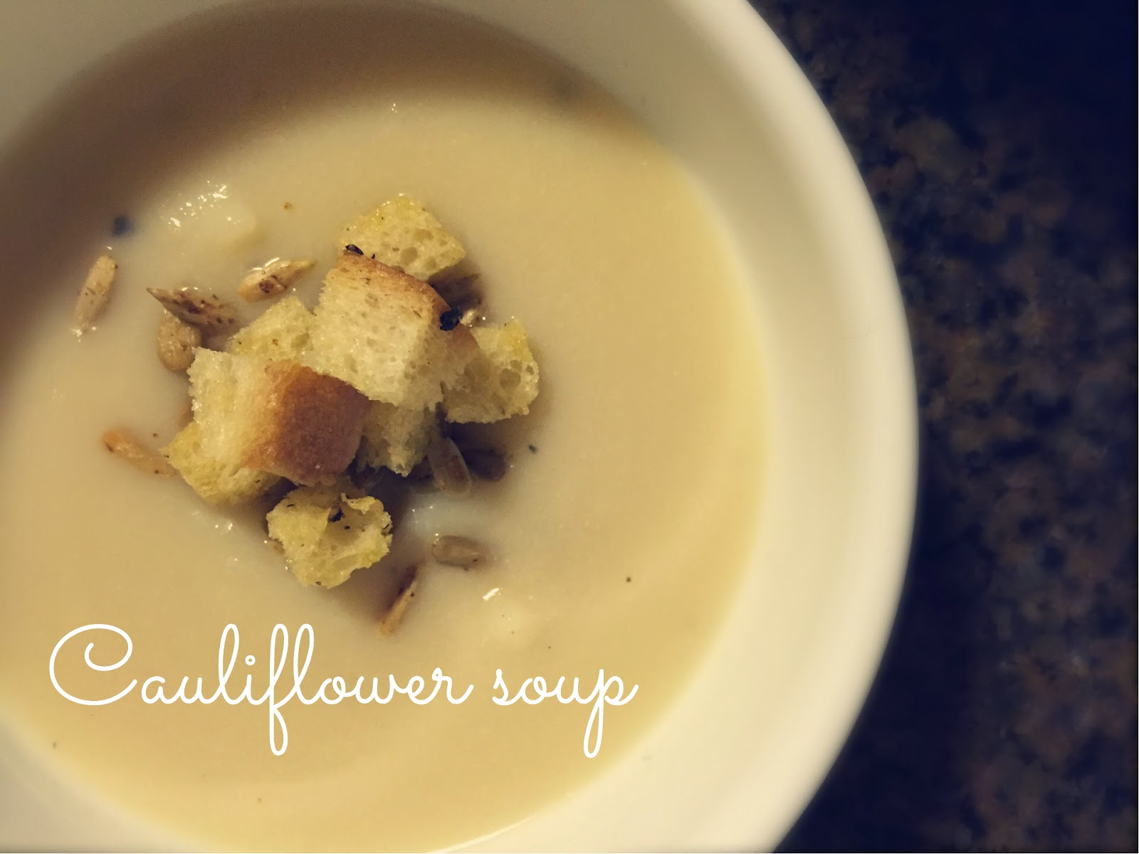 Cauliflower Soup with Spiced Sunflower Seeds - Feast of Starlight