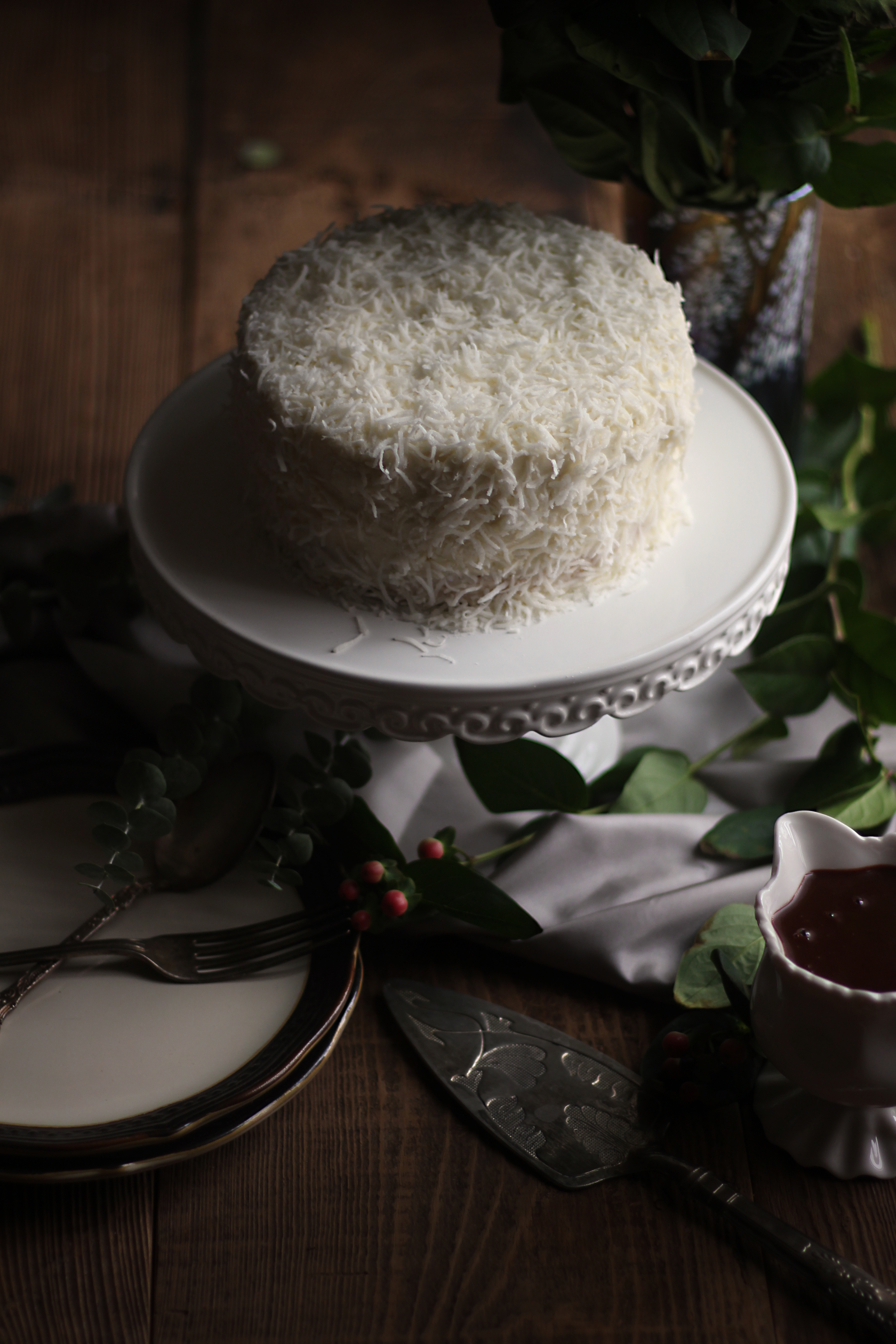 When Harry Met Sally: Coconut Cake with Chocolate Sauce - Feast of ...
